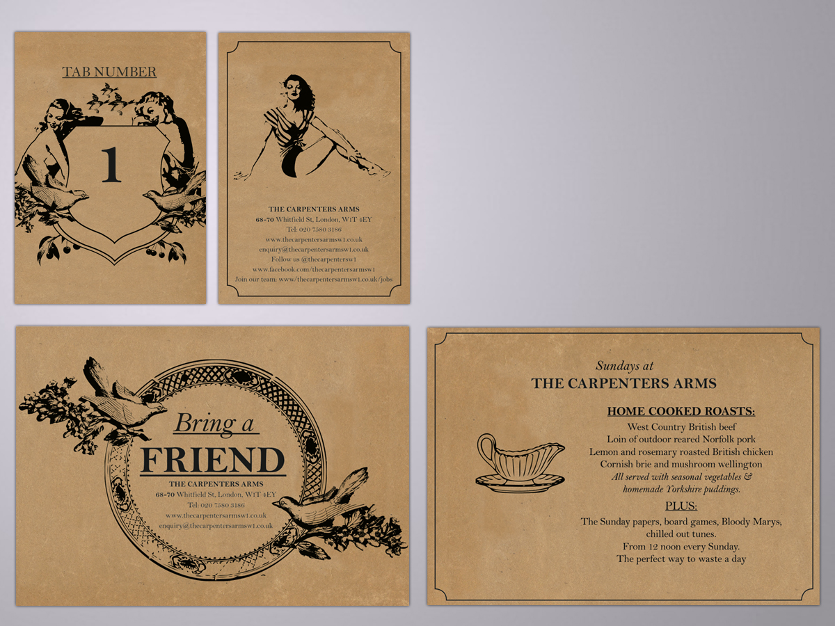 The Carpenters Arms, Branding and design