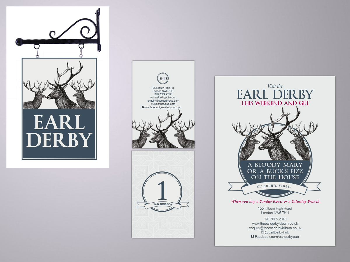 Earl Derby Kilburn brandinhg and design