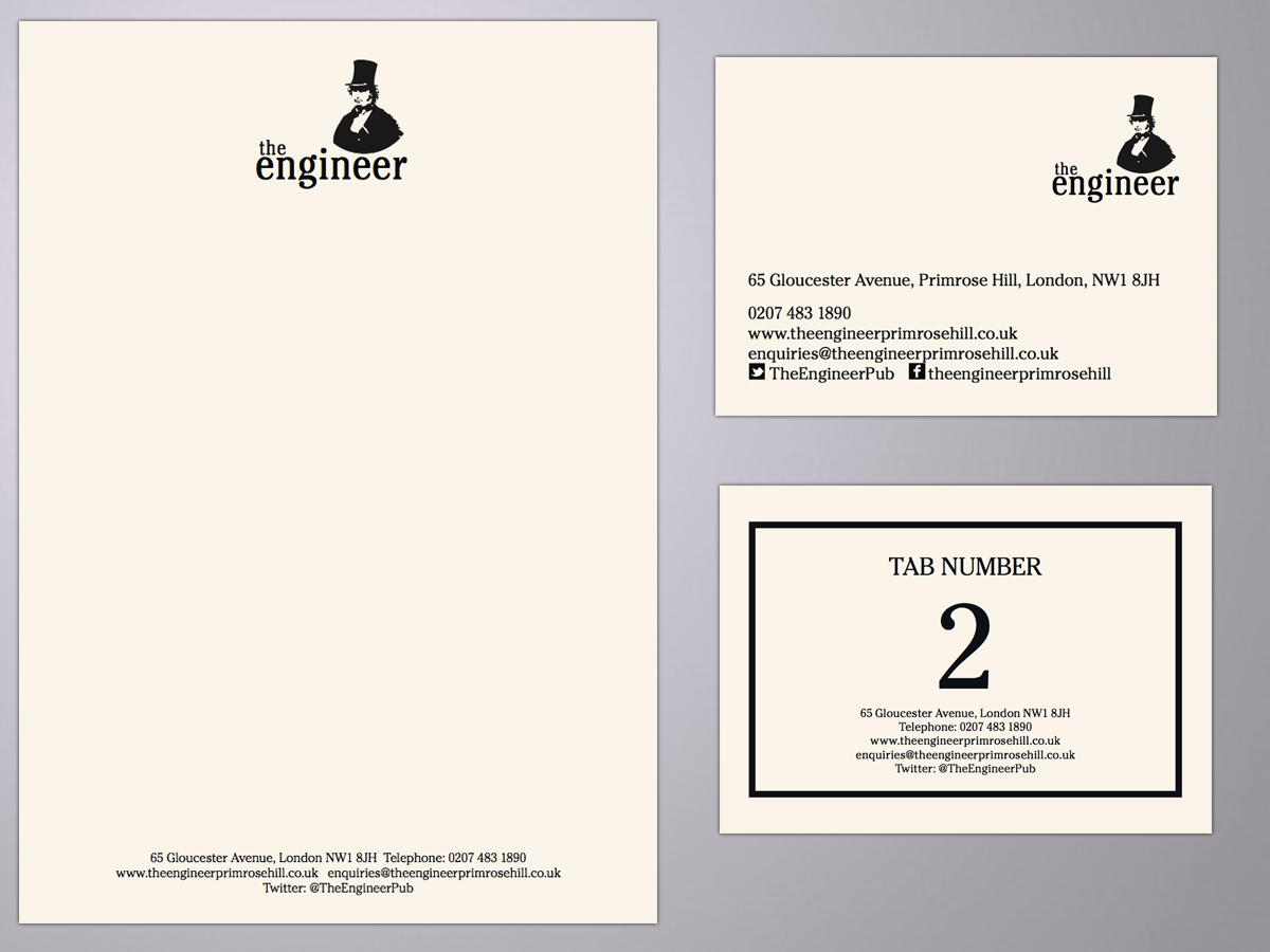 the engineer, primrose hill branding and logo design