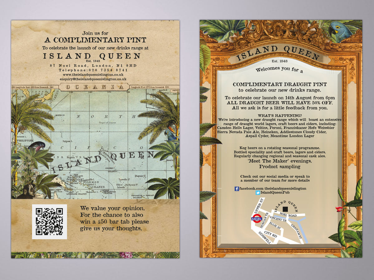 The Island Queen barnding and design
