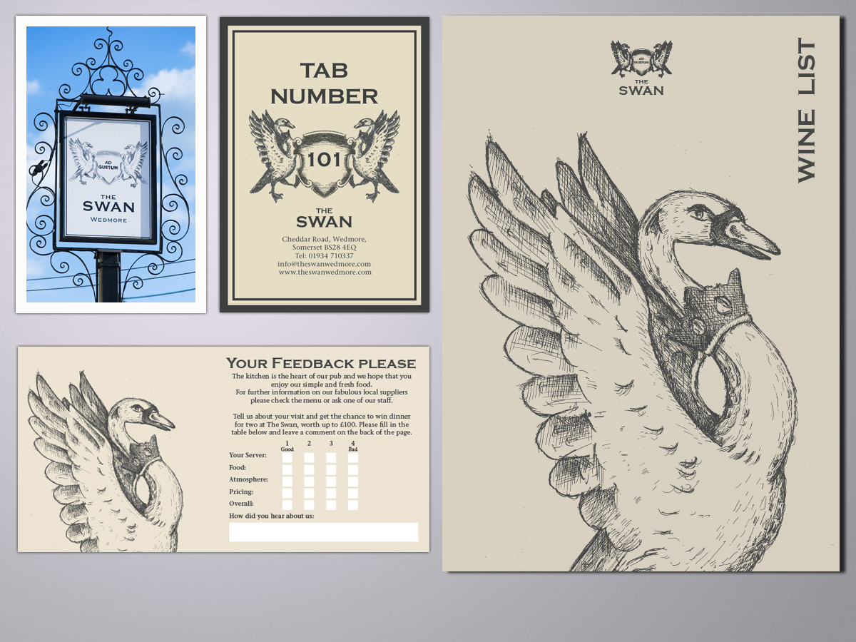 The Swan bradnding and design