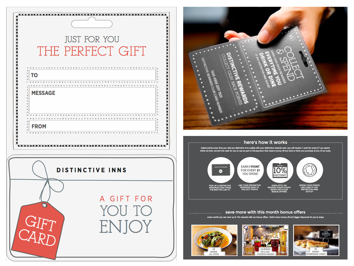Loyalty card distinctive inns design