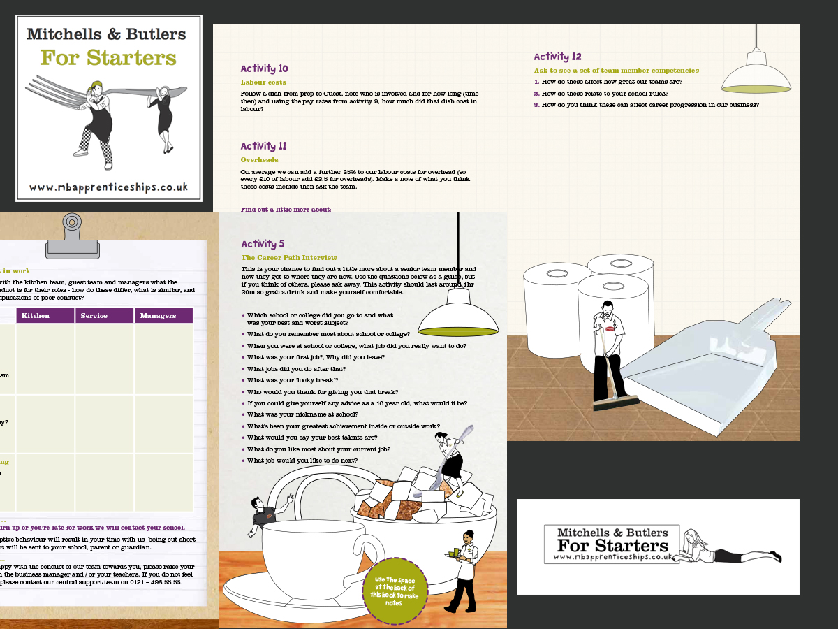 Mitchells & butlers apprenticeships website and student pack