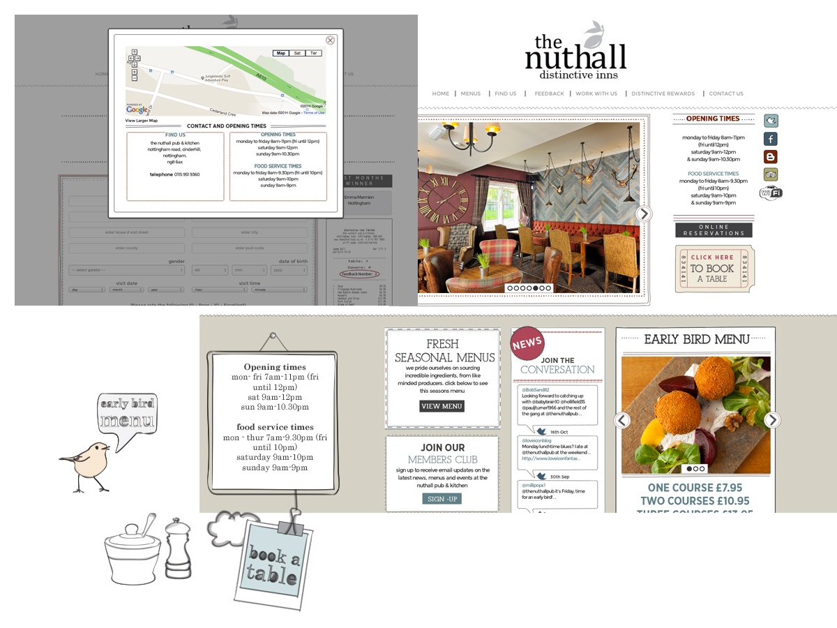 the nuthallwebsite design and  print material