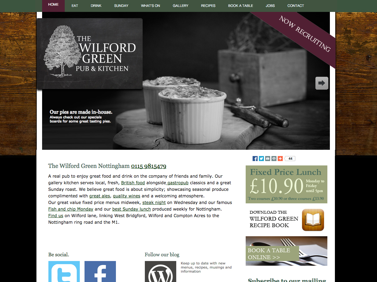 The wilford green, branding design web build